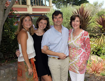 - Rick and Suzanne Weichert. (Photo at right: Daughters Lauren and Jane with Rick and Suzanne.)