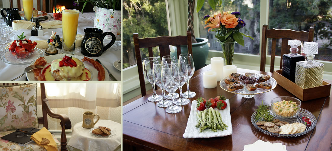 monterey bed and breakfast food and drink offered to guests