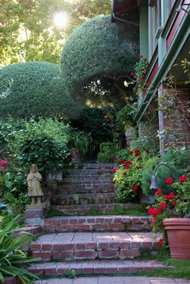 garden walkway @ jabberwock inn monterey ca