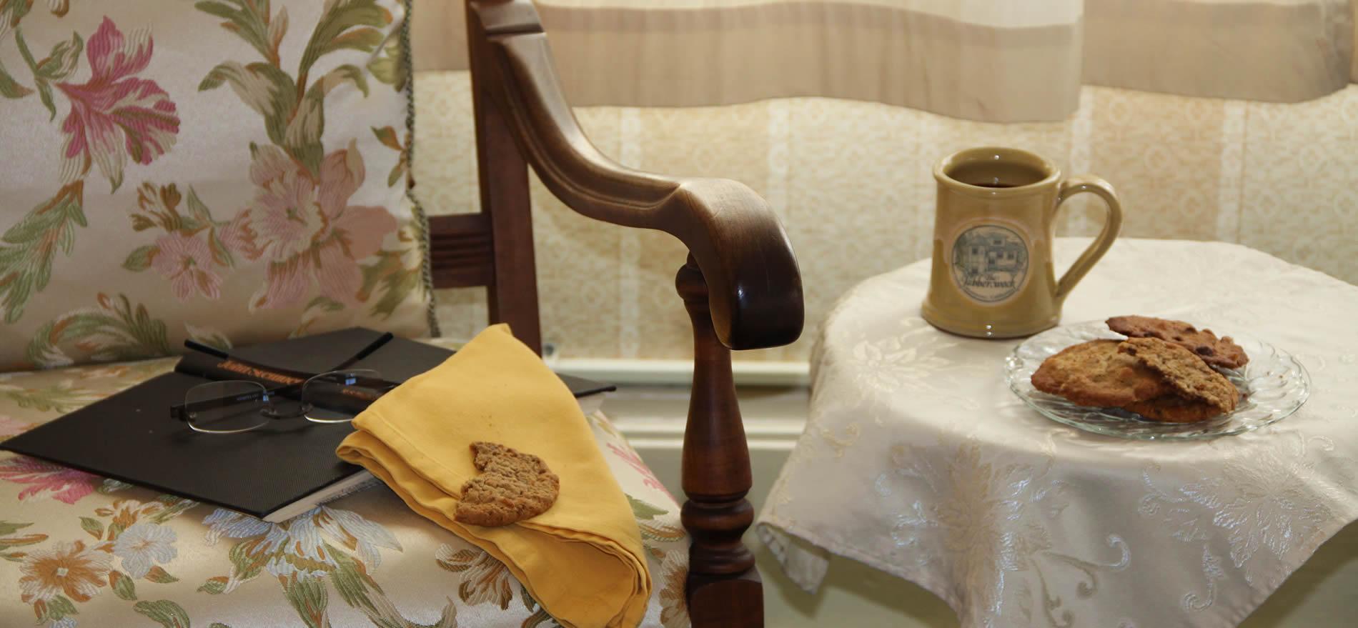 monterey bed and breakfast tea and cookies