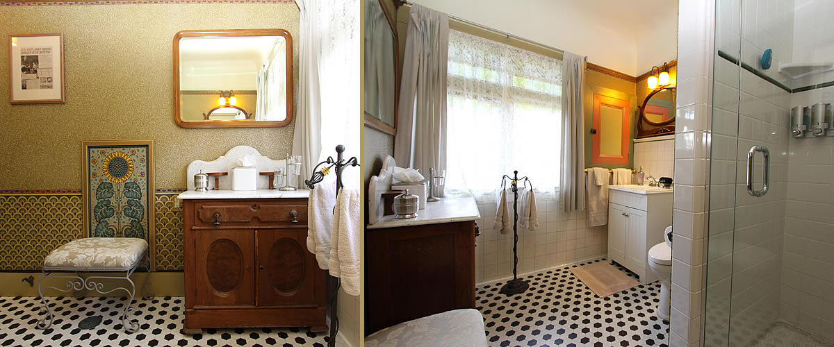 monterey bay bed and breakfast room with detached bathroom w/shower