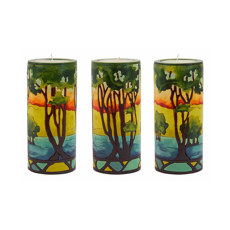Moon Alley Craftsman Trees Candle
