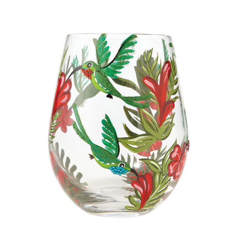 hummingbird glass