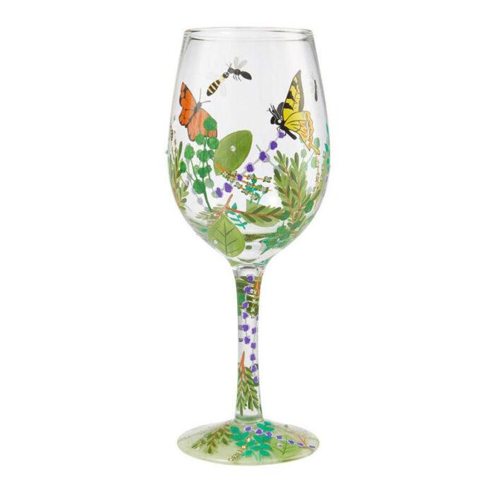 Organica Butterfly Wine Glass by Lolita