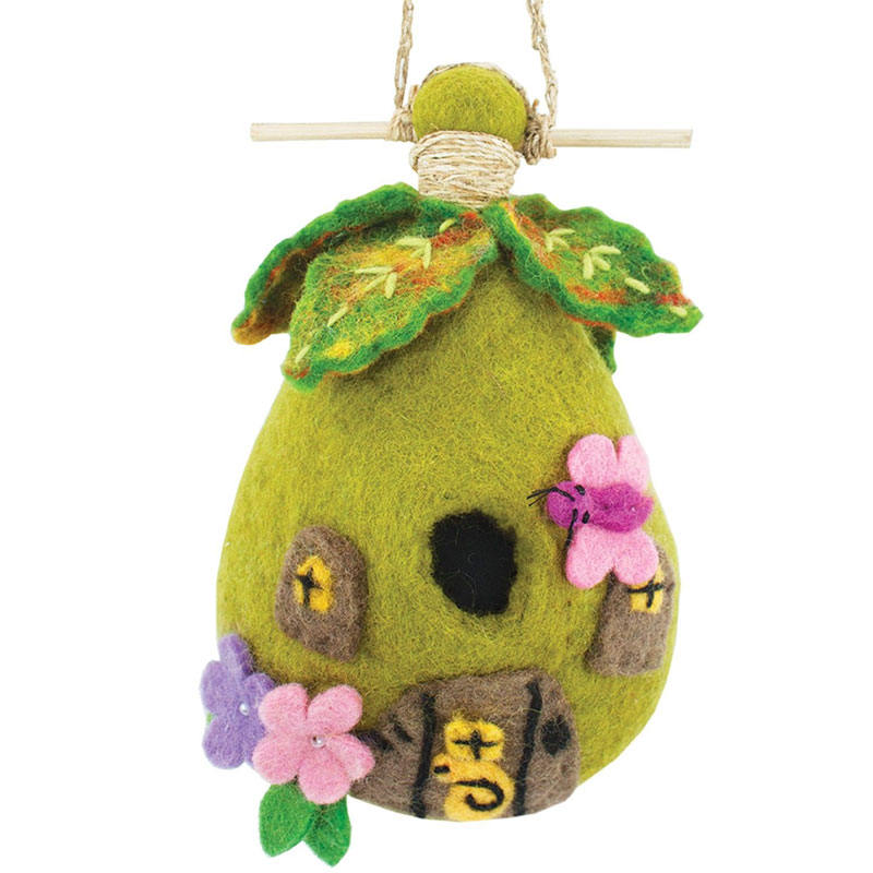 fairy house - felted bird houses - handcrafted gifts at jabberwock inn