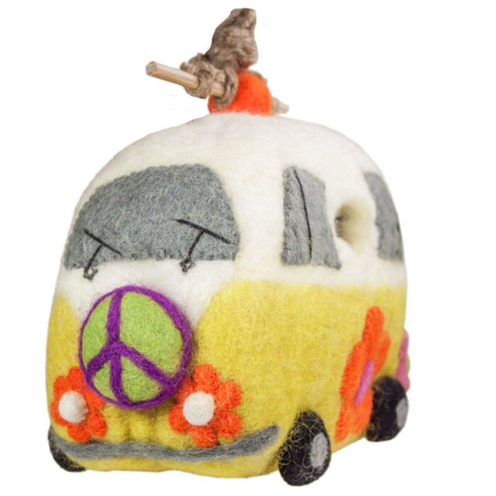 magic bus - felted bird houses - handcrafted gifts at jabberwock inn