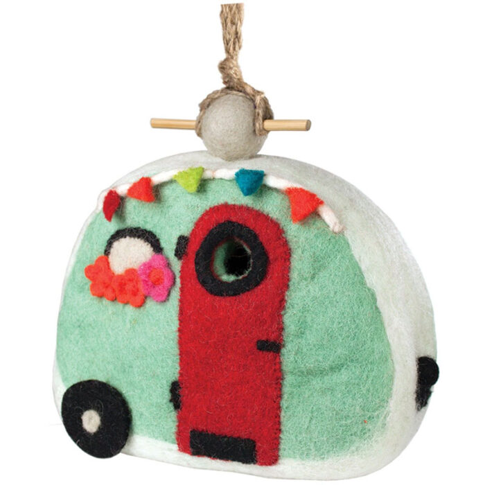 Fairy House felted bird houses - handcrafted gifts at jabberwock inn