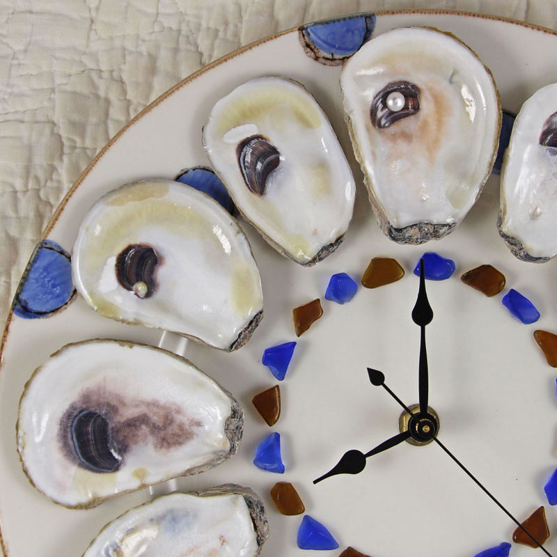 Art of the half shell clock
