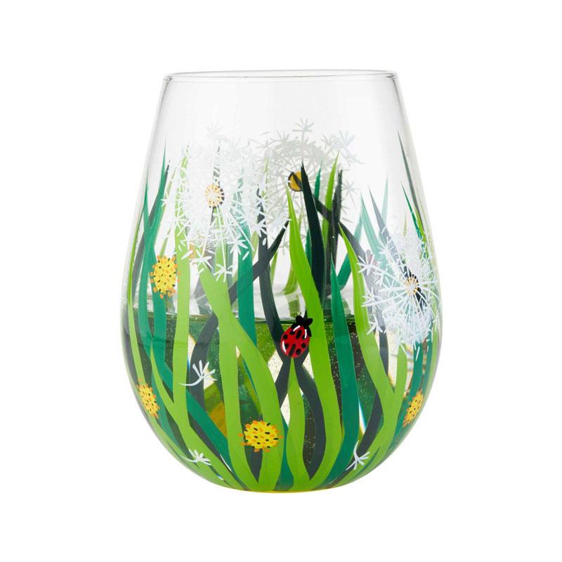 Dandelion Stemless Wine Glass by Lolita