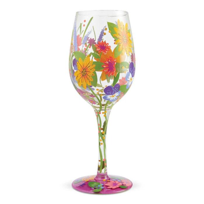 Wine in the Garden Wine Glass by Lolita