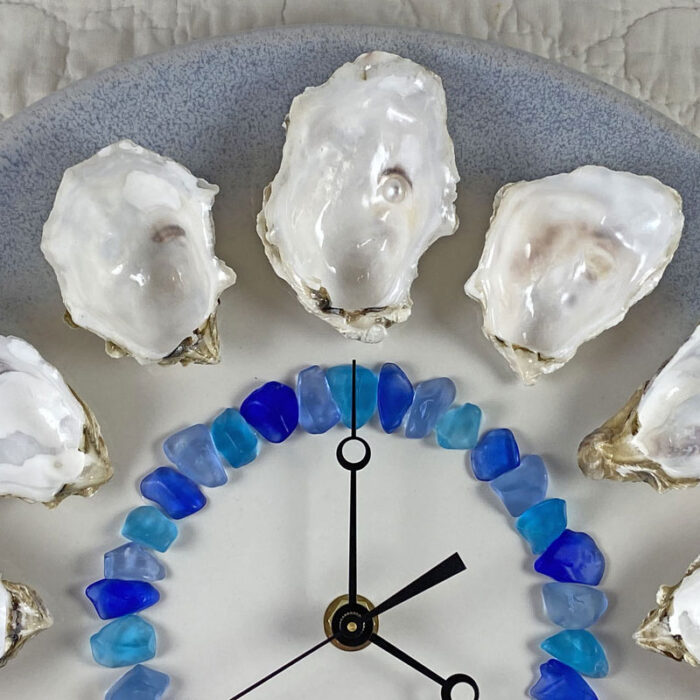 Dozen Oysters on the Half Shell wall clock - Tomales Bay Oysters