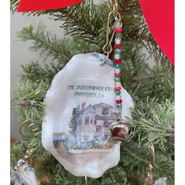 shell christmas tree ornament