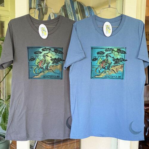 jabberwock tee shirts hanging