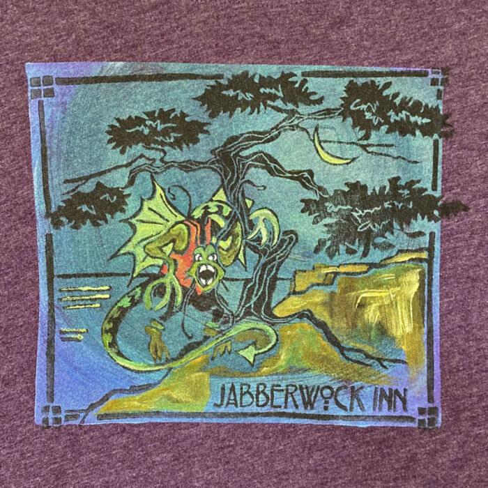 Jabberwock Inn Recycled Pullover Hoodie - Eggplant, Small
